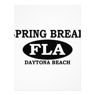 Spring Break Daytona Beach Customized Letterhead
