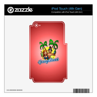 Spring Break Decals For iPod Touch 4G