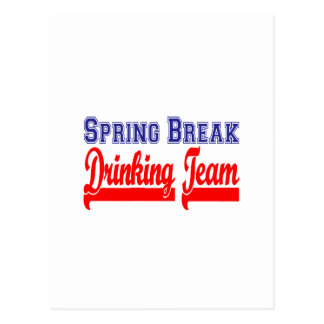 Spring Break Drinking Team (Themed Party) Postcard