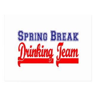 Spring Break Drinking Team (Themed Party) Postcard