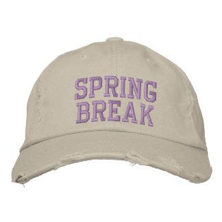 SPRING BREAK EMBROIDERED BASEBALL CAP