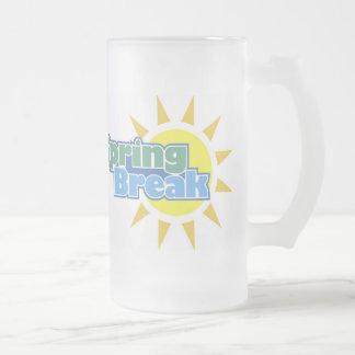 Spring Break Frosted Glass Beer Mug