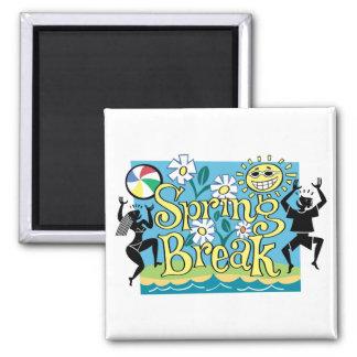 Spring Break Fun Design Fridge Magnets