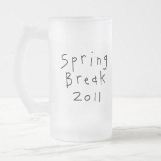 Spring Break Girl 16 Oz Frosted Glass Beer Mug
