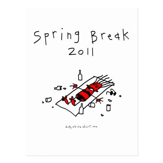 Spring Break Girl Postcard