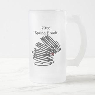 Spring Break Humor Frosted Glass Beer Mug