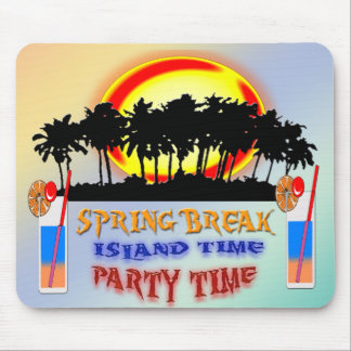 Spring Break Island Time Mouse Pad