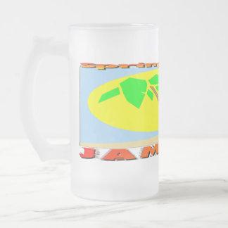 Spring Break Jamaica 16 Oz Frosted Glass Beer Mug