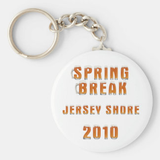 Spring Break Jersey Shore 2010 Basic Round Button Keychain