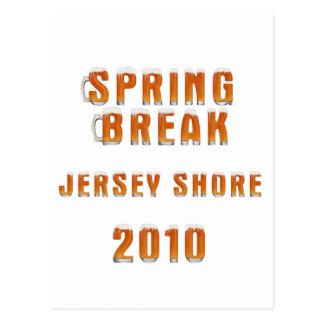 Spring Break Jersey Shore 2010 Postcard