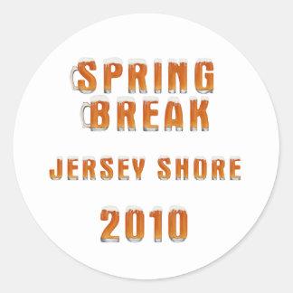 Spring Break Jersey Shore 2010 Classic Round Sticker