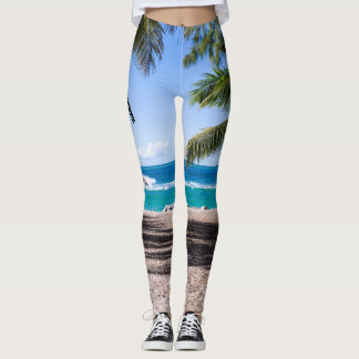 Spring Break Leggings Take Me There Beach Pants
