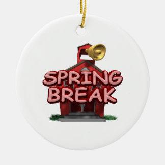 Spring Break Christmas Ornament