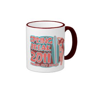 Spring Break Panama City Beach Ringer Coffee Mug