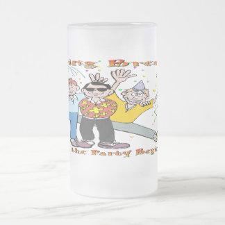 Spring Break Party 16 Oz Frosted Glass Beer Mug