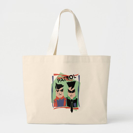 Spring Break Patrol Large Tote Bag