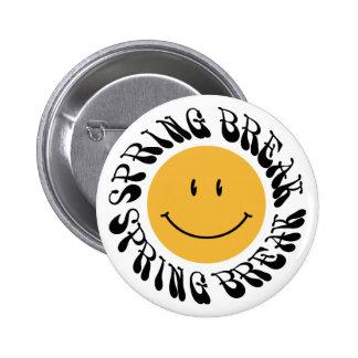 Spring Break Smiley Pinback Buttons