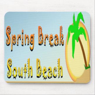 Spring Break South Beach Mouse Pad