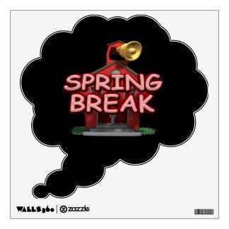 Spring Break Wall Sticker