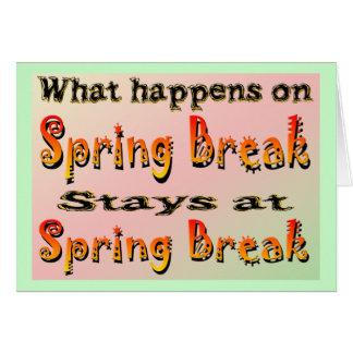 Spring Break What Happens Card