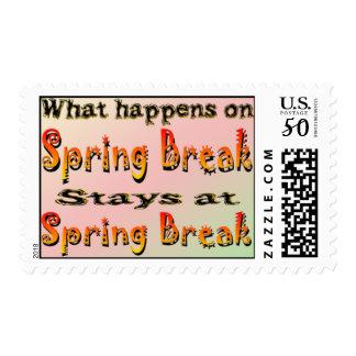Spring Break What Happens Postage