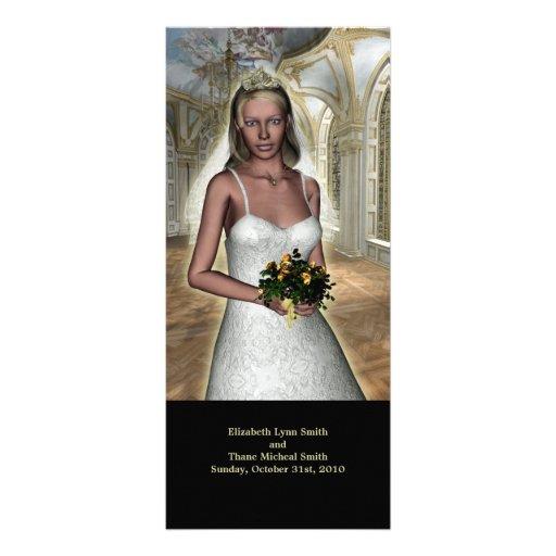 Spring Bride Modern Wedding Menu card