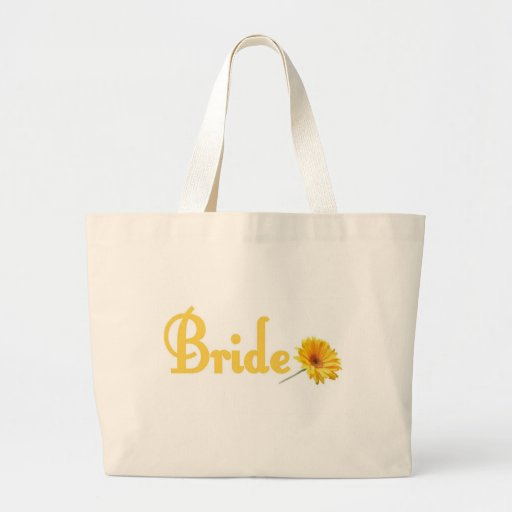 Spring Bride Tote Bag Yellow Flower