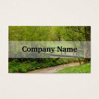 Spring Bridge, Lush Green Landscape Photograph Business Card