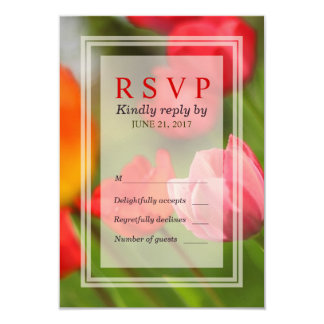 Spring Bright Tulips Response RSVP Card