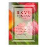 Spring Bright Tulips Response RSVP Card Custom Invitation