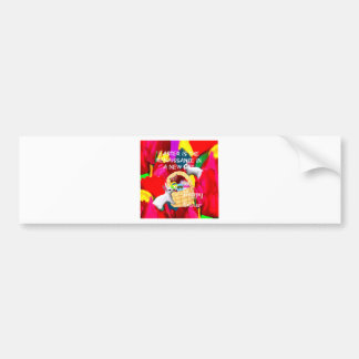Spring brings colors and joy to Easter Bumper Sticker