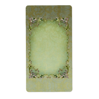 Spring Brocade Apothecary Label Shipping Label