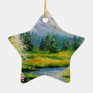 Spring Brook Ceramic Ornament