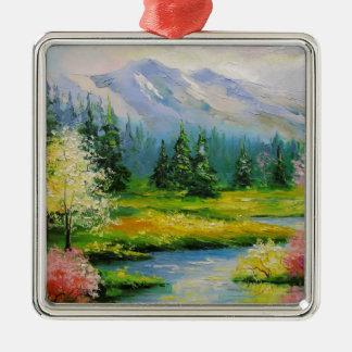 Spring Brook Metal Ornament
