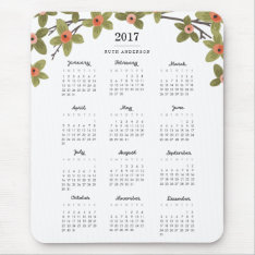 Spring Buds 2017 Calendar Mouse Pad at Zazzle