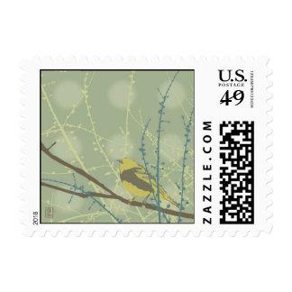 Spring Buds Bird Design Stamp