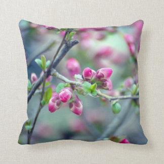 Spring Buds, Cherry Buds Photograph Throw Pillow
