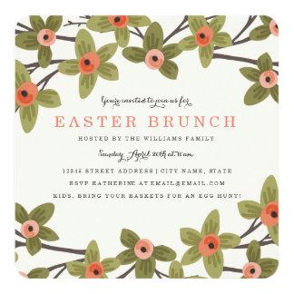 Spring Buds Easter Brunch Card