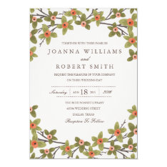 Spring Buds Wedding Invitation at Zazzle