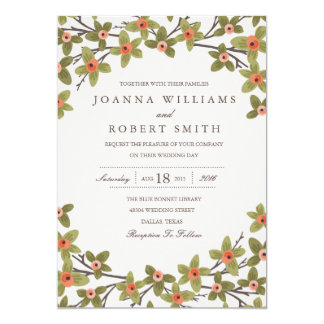 Spring Buds Wedding Invitation