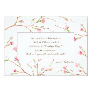 Spring Buds Wedding Request Card