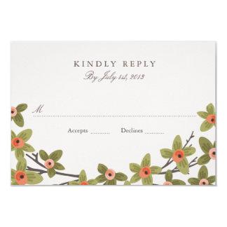 Spring Buds Wedding RSVP 3.5x5 Paper Invitation Card