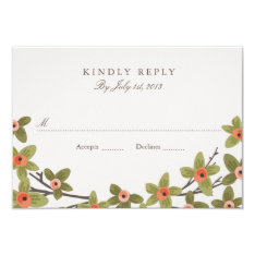 Spring Buds Wedding RSVP Card at Zazzle
