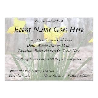 "Spring Bulbs - Daffodils 5"" X 7"" Invitation Card"