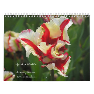 Spring Bulbs: dreamflower 2016 calendar
