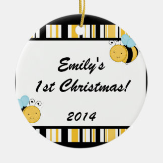 Spring Bumble Bee Personalized Name Ornament