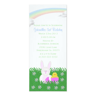 Spring Bunny Birthday Party Invitations