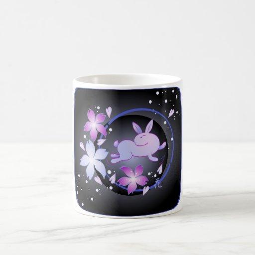 Spring Bunny (black) Mug