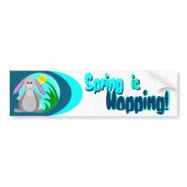 Spring Bunny Bumper Sticker