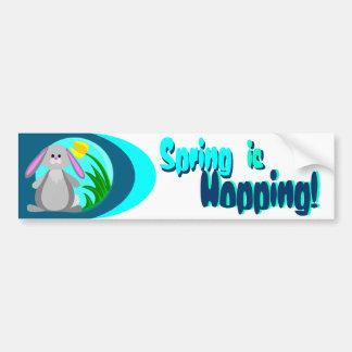 Spring Bunny Car Bumper Sticker